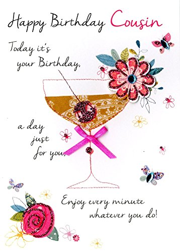 Just to Say Female Cousin Happy Birthday Greeting Card Second Nature Just To Say Cards