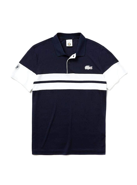 0be6346123cc Lacoste Polo Technique en piqué rayé Homme Roland-Garros - Bleu Marine:  Amazon.fr: Vêtements et accessoires