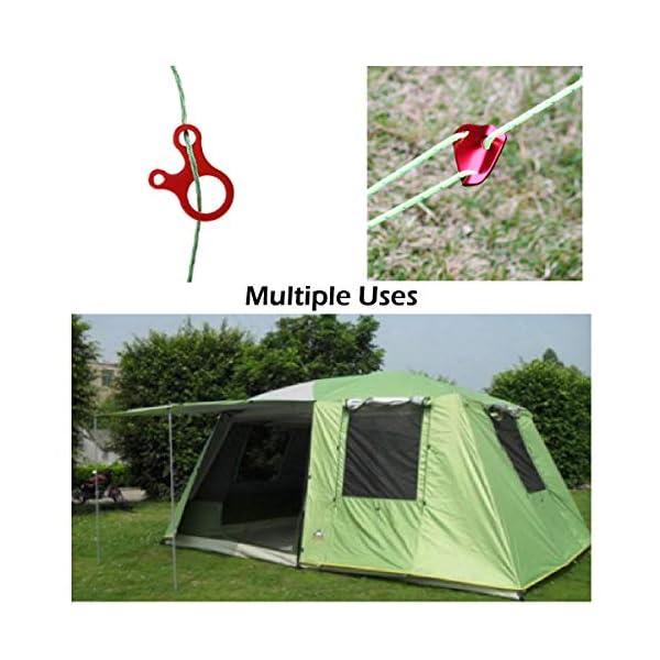TRIWONDER Corda 50 Metri per Tenda Campeggio, Cordino Resistente in Nylon, Paracord Riflettente da Campeggio, Amaca… 6 spesavip