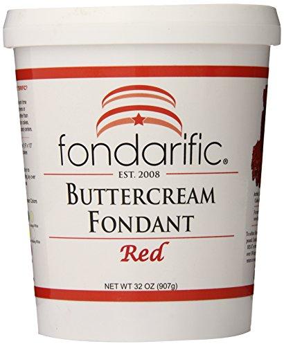 Fondarific Buttercream Red Fondant, 2-Pounds -