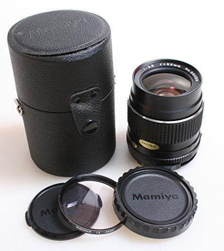 MAMIYA 645 55MM F 2.8 WIDE ANGLE WITH F/REAR CAPS, HARD CASE AND UV FILTER