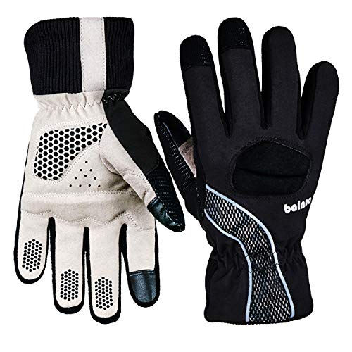 - Balnna Multi-Functional Waterproof Touch Screen Ski Snowboard Gloves with 3M Thinsulate,Touch Screen Cold Weather Cycling Gloves for Men and Women (Large, Black&Gray)