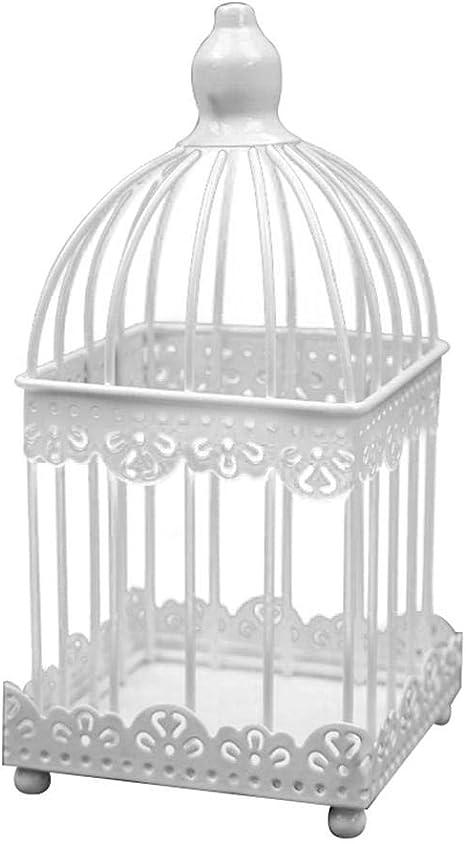 Monbedos Photophore en Forme de Cage /à Oiseaux en Fer pour bougeoir cr/éatif en Forme de bougeoir en m/étal