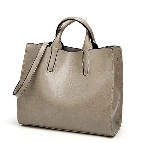 Bolsa de mujer de color sólido Bolso de hombro de bolsa de mensajero de gran capacidad para el trabajo en colores múltiples (Color : D) A