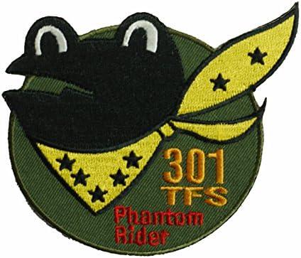 自衛隊グッズ ワッペン 百里基地 第301飛行隊 Fhantom Rider 「カエル」パッチ ベルクロ付