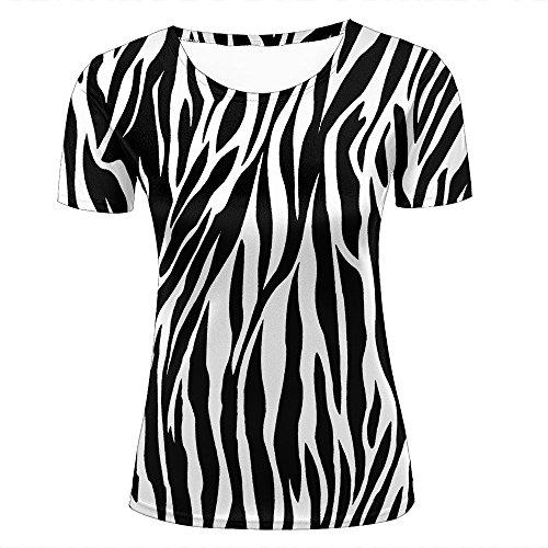(Womens Cool 3D Print T Shirts Texture Zebra Stripes Graphics Short Sleeve Crewneck Tee Shirts Top for Summer Casual Couple Tees XL)