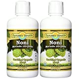 Dynamic Health Noni Juice, Tahitian Morinda Citrifolia, 32 Ounces (Pack of 2) (packaging may vary)