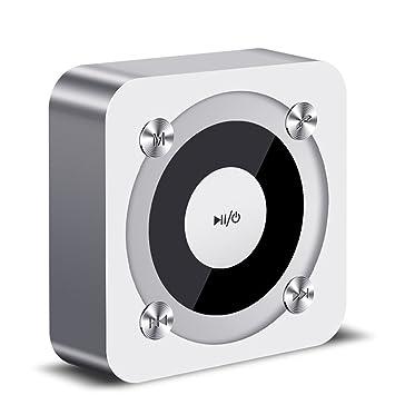 BGS Portátil Mini Recargable de Viaje para Uso en Interiores, micrófono Incorporado, Sonido estéreo, línea AUX y Ranura para Tarjeta TF (Silver): Amazon.es: ...