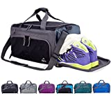 Venture Pal Packable Sports Gym Bag with Wet Pocket & Shoes Compartment Travel Duffel Bag for Men and Women-Gray/Black