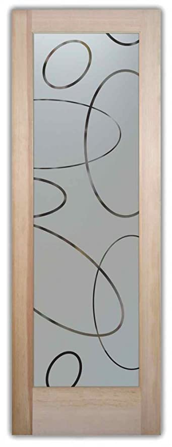 Glass Door Interior French Etched   Frosted Glass Doors 2/0 X 6/8