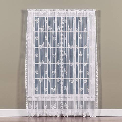 SKL Home Butterfly Lace Panel, White, 56 inches x 84 inches Review