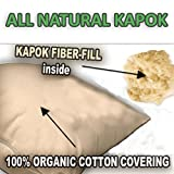 Kapok Fiber Filled Premium 2-PACK - Kapok Fill Pillows With Organic Cotton Covering