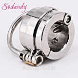 ccTina Mens Penis & Ball Locking Chastity Device Male Spiked Ball Stretcher Stainless Steel Penis Bondage Metal Cock And Scrotum Rings 1pcs
