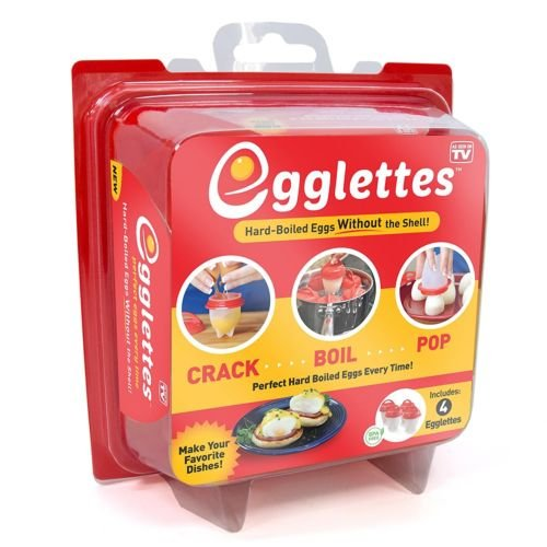 Egglettes™ SOLD BY DREAMIES - Egg Cooker Hard & Soft Maker, No Shell, Non Stick Silicone, Poacher, Boiled, Steamer, Includes Recipe Book, AS SEEN ON TV.