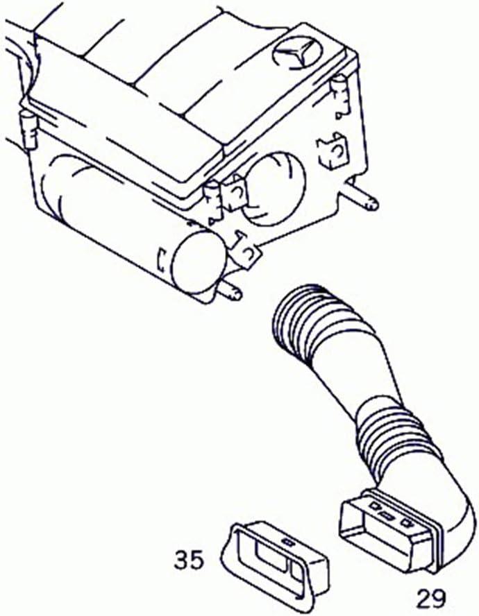 Luftansaugrohr Schlauch Autozubeh/ör a1660940487 Passend f/ür A-Klasse W168 1997-2004 Luftansaugrohr Rohr Luftansaugschlauch