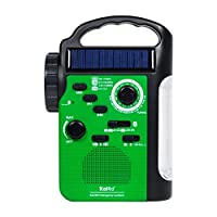 Kaito KA340 5-way Powered Rechargeable LED Camping Lantern & Emergency AM/FM/SW NOAA Weather Alert Radio with Bluetooth, Flashlight, 5V USB Mobile Phone Charger, MP3 Player & Siren