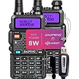 2-Pack Baofeng Radios UV-5R MK4 8 Watt MP Max Power with Programming Cable Compatible with Baofeng Ham Radio  Two Way Radios Mirkit Edition