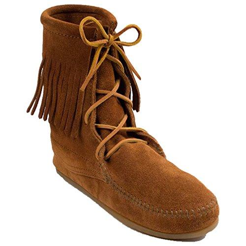 Ankle Hi Tramper Boot (Minnetonka Womens Tramper Ankle Hi Black Boot - 5)