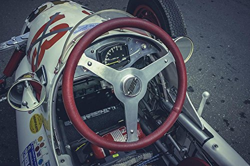 Vintage Motor Racing (LAMINATED 36x24 Poster: Formula 1 Formula 3 Auto Race Car Racing Racing Car Automotive Vehicle Motorsport Speed Flitzer Tuning Vintage Oldtimer Race Cockpit Steering Wheel)