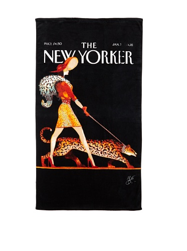 The New Yorker - Lady with Leopard Beach Towel