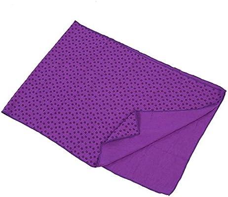 TOOGOO (R) Toalla Hot Yoga Mat antideslizante Manta Con Los Puntos de placas de silicona y malla Carry Bag (purpura)
