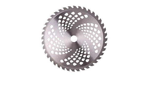 Manyo - Cuchilla de cortacésped de metal, 40 dientes, diámetro de ...