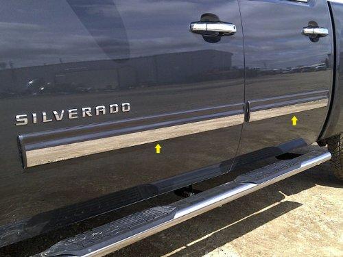 QAA FITS Avalanche 2009-2013 Chevrolet (4 Pc: SS Rocker Panel Body Accent Trim, 1.813