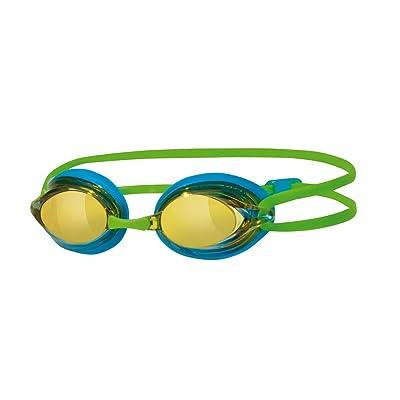 Zoggs Racespex Mirror Swim Google - Blue/Green Frame by Zoggs