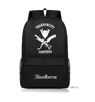 yehert Bloodborne Old Hunter Logo Unisex Backpack Student Shoulder Bag