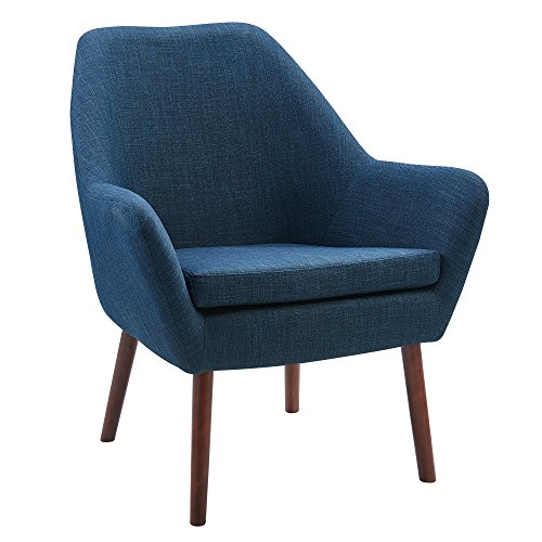Versanora VNF-00033T Divano Sofa, Teal/Honey Oak