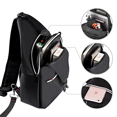 ea5803b54d00 Rophie Sling Bag Pack for Bottle and iPad Chest Shoulder Crossbody Hiking  Backpack Outdoor Sport Bicycle