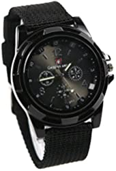 Sport Style Military Army Pilot Fabric Strap Sports Men Watch 4 C Noj3pg-black