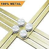 Multi Angle Measuring Ruler, Ankace Premium Aluminum Alloy Ultimate 836 Template Tool/Layout Tool Measurement for Handymen, Builders, Craftsmen, DIY-ers (Golden)