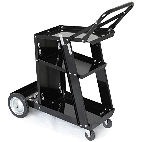 Holder Chart Roll - Yaheetech 3-Tier Welding Cart MIG TIG ARC Plasma Cutter Welder Welding Cart Universal W/Tank Storage,176lbs Capacity Black