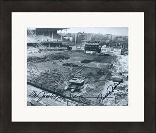 Ebbets Field Framed Photo - Jackie Robinson Autographed Photo - Ms 8x10 Rachel Ebbets Field) #SC5 Matted & Framed - Autographed MLB Photos