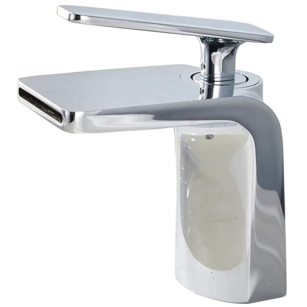 con Manguera G1/2 de la Marca Grifos de lavabo SADASD Grifo de Lavabo de Cobre para baño con una Sola Mano en Espiral para Lavabo y Agua fría