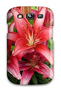 Case Cover Red Lilies Flowers/ Fashionable Case For Galaxy S3