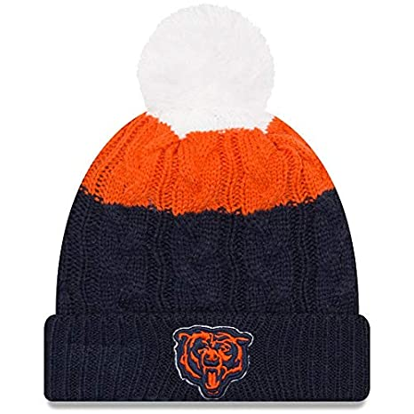 0c01ce17158 Image Unavailable. Image not available for. Color  Chicago Bears New Era  Women s Alternate Logo Layered Up 2 Cuffed Knit Hat with Pom -