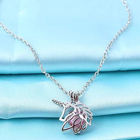 ZCYCXL Marca Collar de aleación Colgante de Caballo Collar de Perlas de ostras Joyas Colgantes y Collares Regalo para Mujeres Niñas