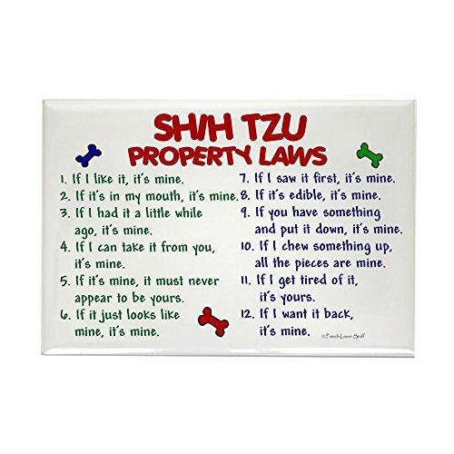 - CafePress Shih Tzu Property Laws 2 Rectangle Magnet, 2
