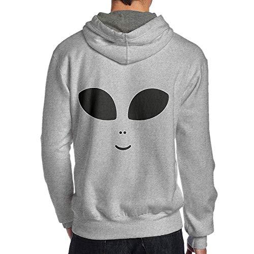 JHDKDGH-N Halloween Costume Cute Alien Back Print Long Sleeve Hoodie Man -