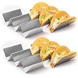KABB Stainless Steel Taco Holder Stand, Silvery