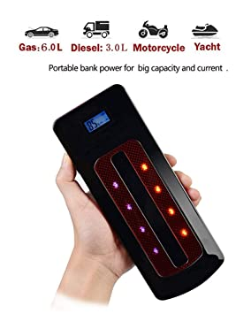 Balscw Car Jump Starter Portable 800A Cargador de batería ...