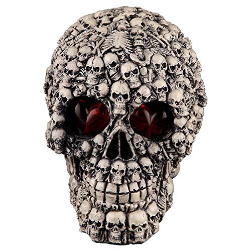 Xshelley Halloween LED Skull Light Bar Table Decorations Cool Birthday Surprise Decorative Night Light Skull Ornament with LED Light Up Eyes Desk Lamp for Gothic Party Decoration by Xshelley