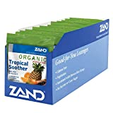 Zand HerbaLozenge Organic Tropical Soother | Throat Lozenges w/VIT. C & Zinc for Immune Support | No Corn Syrup or Cane Sugar | 12 Bags, 18ct.