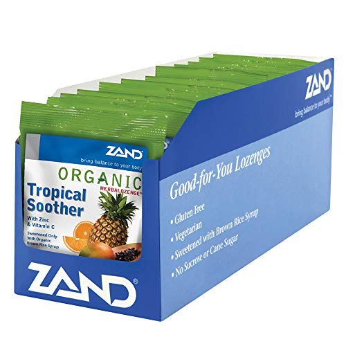 Zand Herbalozenge Organic, Tropical, 18 count bags,  12 Count