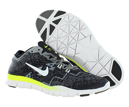 Nike Wmn Nike Free 5.0 Tr Fit 4 Prt - Zapatillas para mujer BLACK/LIGHT ASH/MEDIUM ASH/IVORY