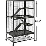 AmazonBasics Small Animal Metal Pet Cage with