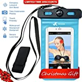 samsung galaxy 5 mini bag case - ⚡ [ PREMIUM QUALITY ] Universal Waterproof Phone Holder with ARM BAND, COMPASS & LANYARD - Best Water Proof, Dustproof, Snowproof & Shockproof Pouch Bag for Apple iPhone, Android & All SmartPhone
