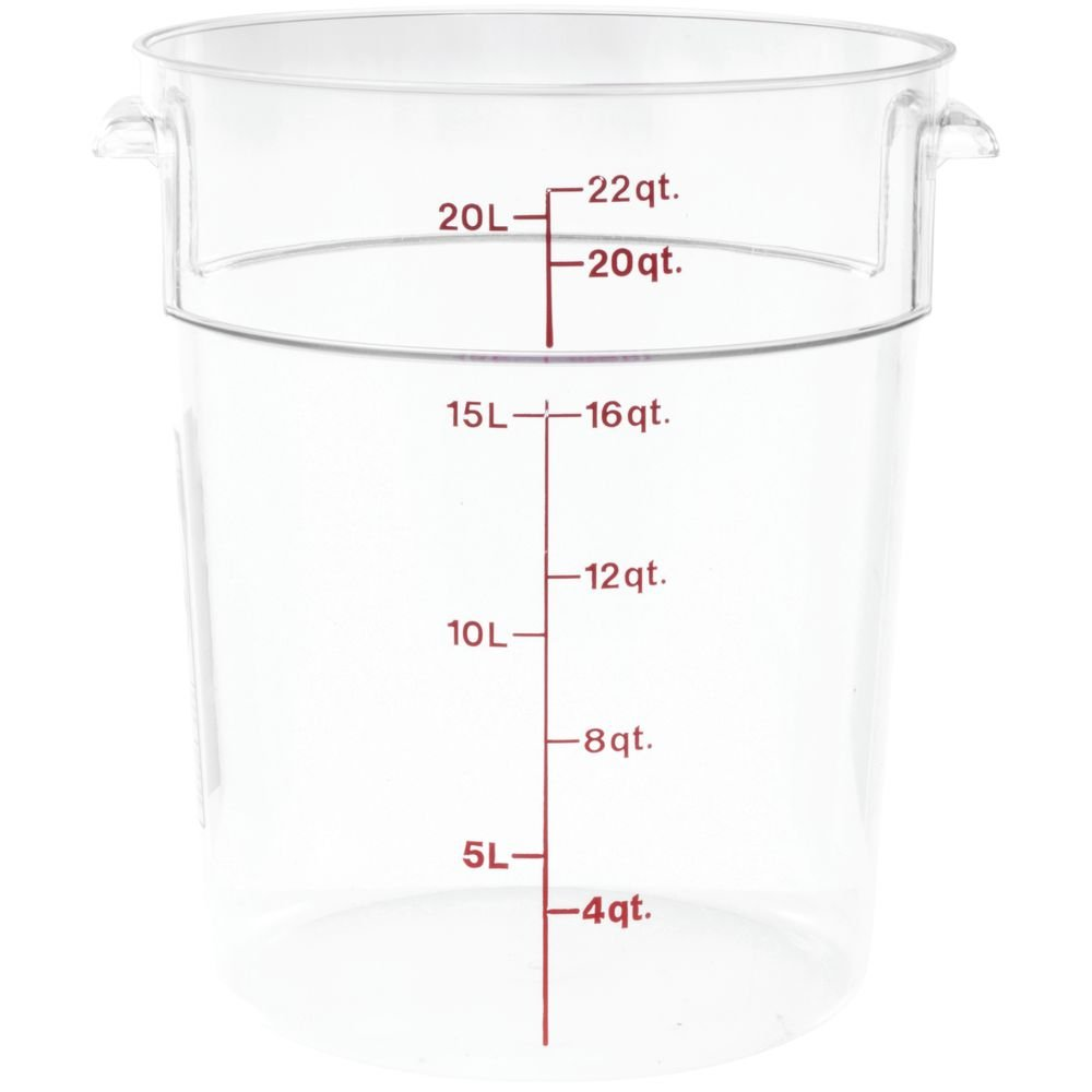 Cambro (RFSCW22135) 22 qt Round Polycarbonate Food Storage Container - CamwearÂ